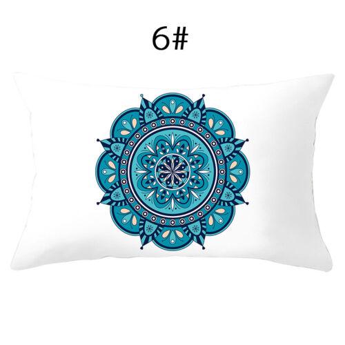30x50cm Lumbar Geometric Peach Skin Pillow Cover Protector Rectangle Pillowcase