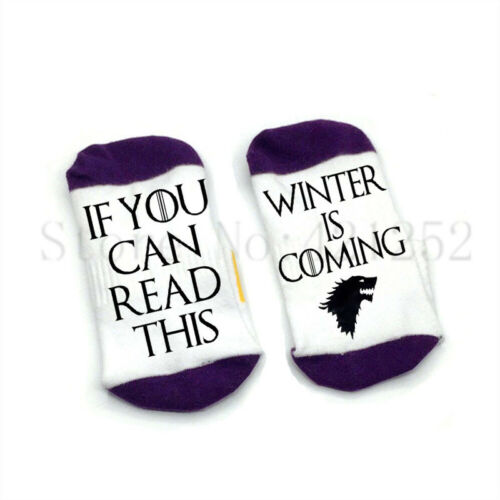 If you can read this winter is coming socks cotton elastic comfortable unisex