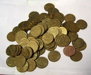 * ONE LB - Lot of 100 -- Vintage -- CASA BONITA - Mexican Restaurant - TOKENS **