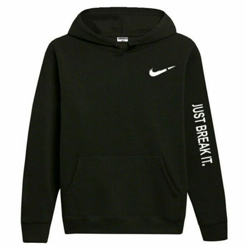 Mens Hoodie Sweatshirt Tops Fleece Hooded Pullover Long Sleeve Jumper Sportswear
