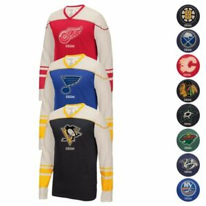 NHL-CCM-Throwback-034-Better-Days-034-Retro-Applique-Long-Sleeve-Vintage-T-Shirt-Men-039-s