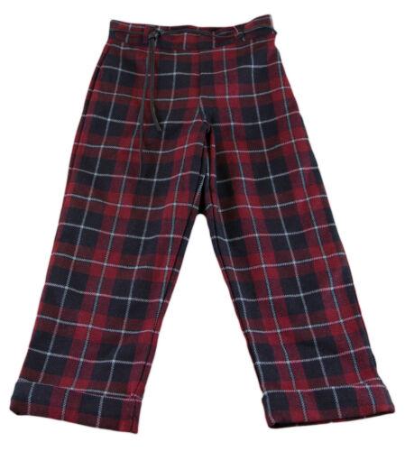 Multi Plaid Wool Pants Size 6 Years NWT $67 JACADI Girl/'s Aisance Crimson