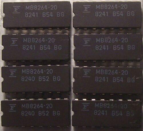 DRAM 64kx1 Dynamic RAM 64k x 1 200ns HM4864-3 MB8264-20 CERAMIC DIP 8 pieces