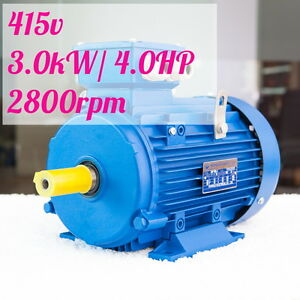 3kw-4HP-2800rpm-shaft-28mm-Electric-motor-Three-phase-415v