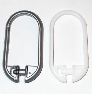 Image Is Loading Bathroom Bath Shower Curtain Rings Hooks Plastic Snap