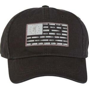 new arrivals a02c1 41352 ... switzerland mens browning bullet american flag cap black one size fits  all hat 0697a 129af