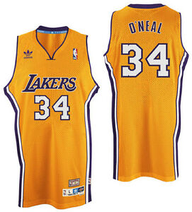 8f618d7646f Los Angeles Lakers Shaquille O Neal Hardwood Classic  34 Swingman ...