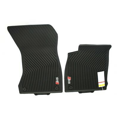 for Audi S5 2009-2016 Coupe Car Floor Mats Full Coverage All Weather Protection Waterproof Non-Slip Leather Liner Set Black red