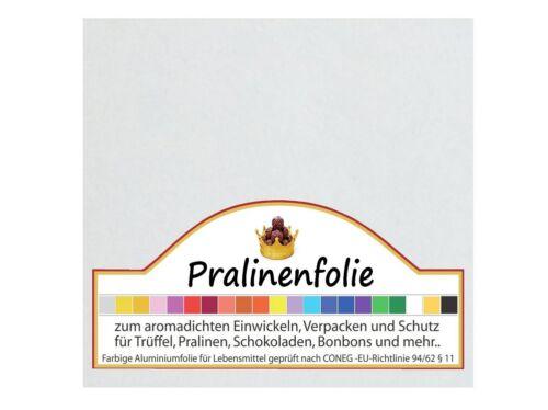 35 feuilles colorés du Papier Alu 100x100 pour CHOCOLAT CHOCOLATS Film einwickel diapositive