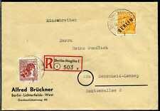 Berlin Mi 10,31  R-Brief  Mischfra. Schwarz+Rotaufdruck