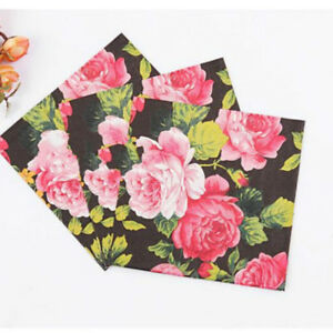 Hk 20 pcsset wedding birthday party rose floral paper napkins image is loading hk 20 pcs set wedding birthday party rose mightylinksfo