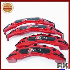 Audi S Line Red Brake Caliper Cover Universal Disc Racing Front Rear HQ