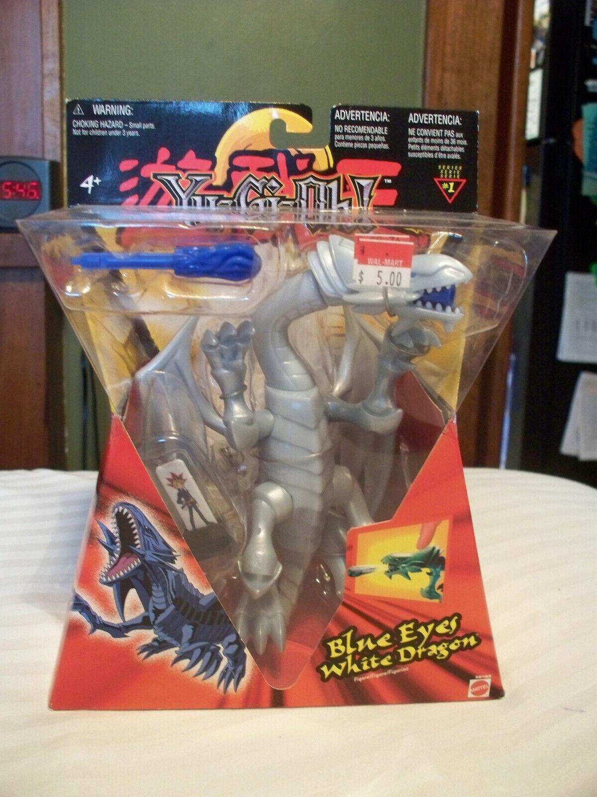 2002 Yu-Gi-Oh  Mattel bleu Eyes blanc Dragon série 1 figurine scellé jamais retiré de la boîte