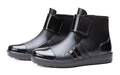 Para Hombre Impermeable de Goma tobillo Botas de lluvia (tamaño de Reino Unido 9)