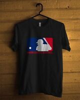 MLB Major League Baseball USA Logo Black T-Shirt Men or Women All Size