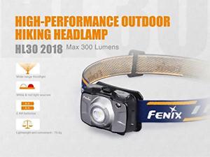 FENIX Unisex HL30 2018 Headlamp, Grey