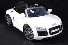 Audi R8 Lizenz-Auto Elektroauto Kinderauto 12V 2x Motoren Fernbedienung Weiss..