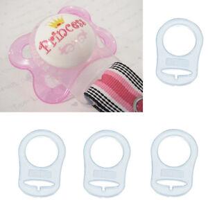 4-Silikon-Ring-Taste-Schnuller-Halter-Clip-Dummy-Adapter-Fuer-MAM-Stil-Nippel