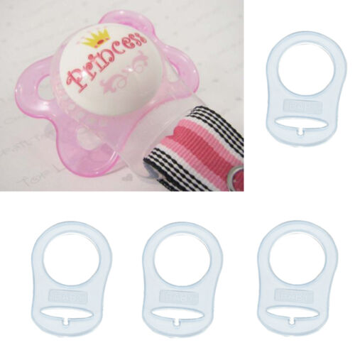 4pcs Silicone Ring Button Pacifier Holder Clip Dummy adapter For MAM Style
