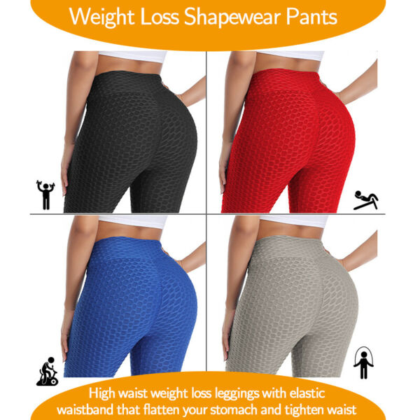 3D Push Up Damen Perfect Shape Leggings Gym Hose Yoga Elastisch Sport Jogging DE