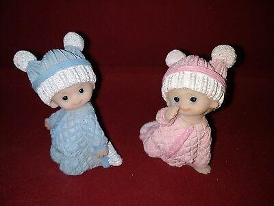 Tortenfigur Tortenaufsteller Zwillingsfigur Junge Zwillinge Taufe Geburt