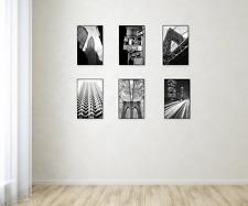 Format Frame MCS 11 x 17 Inch Black 6 Pack Polished Edge Glass Frameless Look