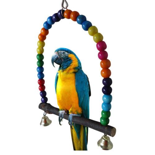 PET *Bird Parrot Parakeet Budgie *Cockatiel Cage Hammock Swing Toys Hanging Toy