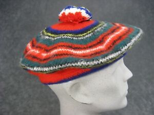 b99d1421db121 Vintage Scottish Beret Green and Red Wool Mac Auslan of Glasgo Made ...