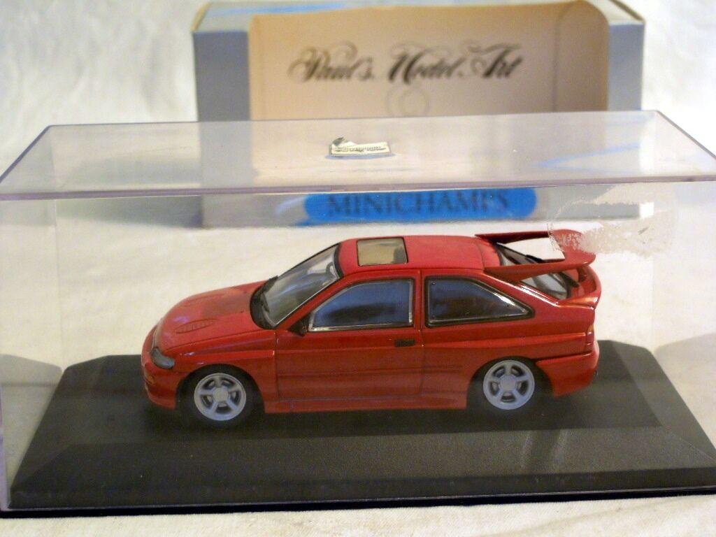 Minichamps 430082104  Ford Escort Escort Escort Cosworth - red, Diecast in 1 43, NEU & OVP ed10f9
