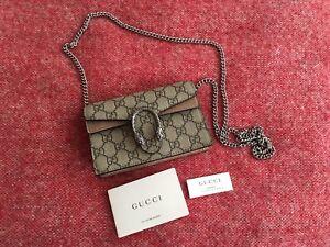 598c3f6f11a New Gucci Dionysus GG Supreme Super Mini Bag Without Dust Bag