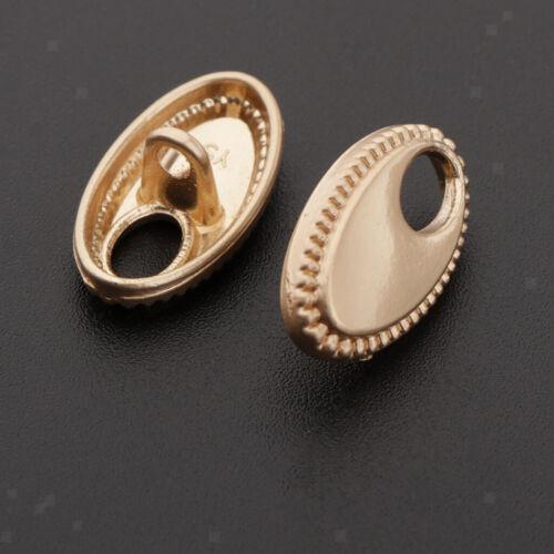 10x Single Geometric Fashion Shank Buttons Kleidung Mantel Nähen auf