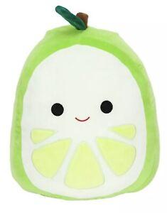 """Squishmallow Leeland Lime Fruit 8/"""" NWT Green NEW Kellytoy Plush Squishmallows"""