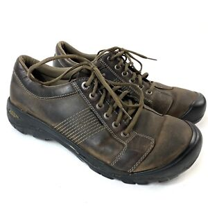 keen finlay casual oxfords shoes brown leather mens size