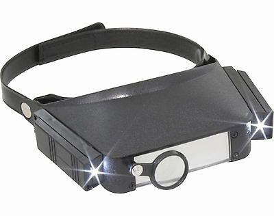 3LED Stirnlupe Kopflupe Lupenbrille Brillenlupe Stirnlupe Brille Leuchtlupe USB