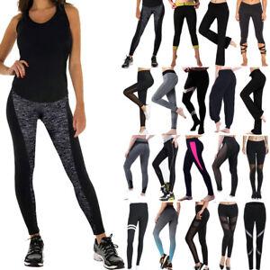 de6f193bce6ea2 Women Fitness Leggings High Waist YOGA Pants Gym Running Sports ...