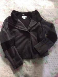 di grigio The lana Vgc di Qu approssimativa Cue lana in 12 Giacca nero Cher misura pura URawExEH