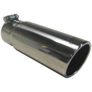 """MBRP 3.5/"""" OD Round Angled Cut Rolled Edge 3/"""" ID 10/"""" Length Exhaust Tip"""
