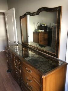 Image Is Loading Antique Style French Provincial Dresser Console With Mirror