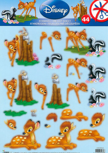 Disney Bambi Friends Die Cut Card Making 3d Decoupage Paper Crafts