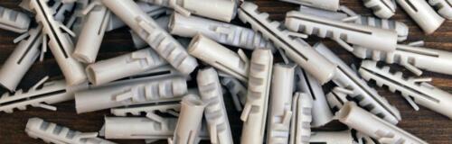 UNIVERSAL WALL RAWL PLUGS PLASTIC EXPANDABLE PLUGS 5 6 7 8 10 12mm *PACK OF 100*