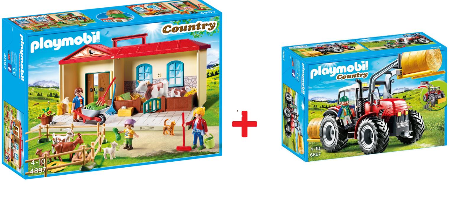 Playmobil® Country Colletion 2 Pz. 6867 Riesentraktor + 4897 Fattoria