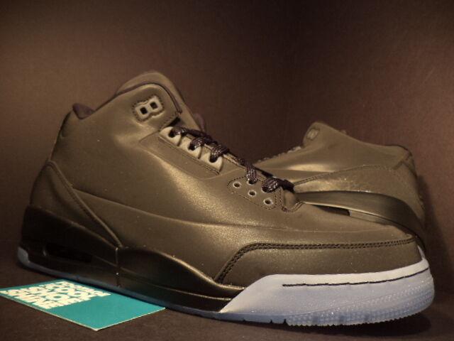 Nike Air Jordan III 3 Retro 5LAB3 REFLECT BLACK CLEAR CEMENT 631603-010 NEW 9.5
