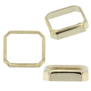 14K-White-Gold-Radiant-Emerald-Bezel-Head-Setting-Mounting-2-50ct-25-00ct-USA