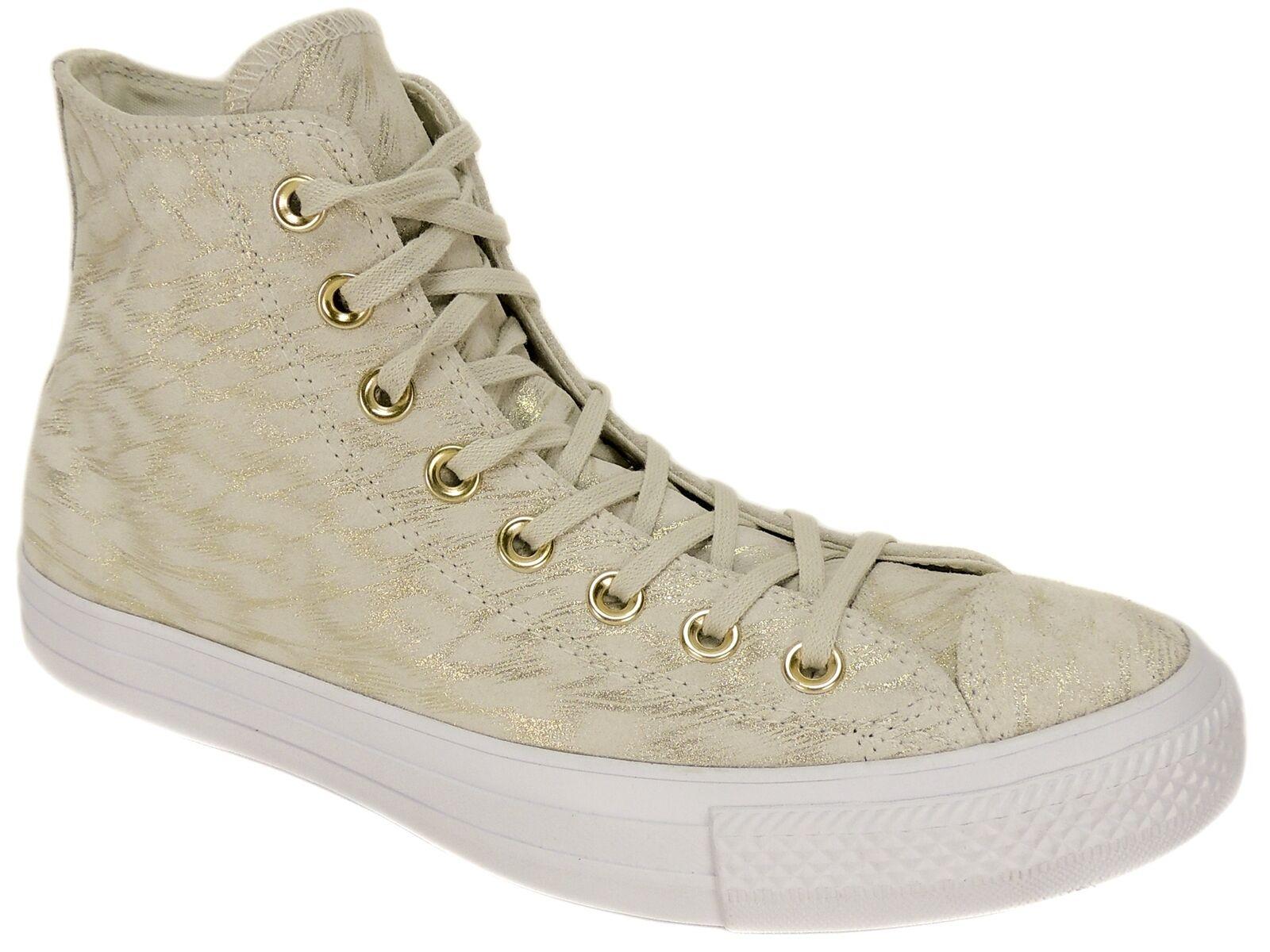 Converse Femme CT Hi Top All Star Sneakers Buff/Buff/Blanc