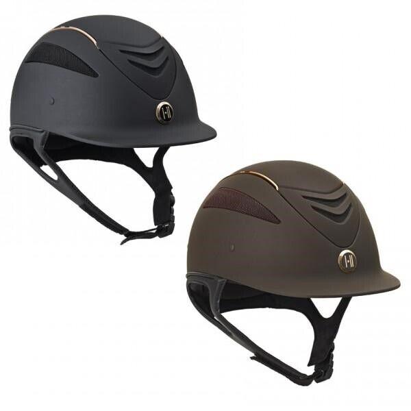 One K Defender pink gold Stripe Helmet