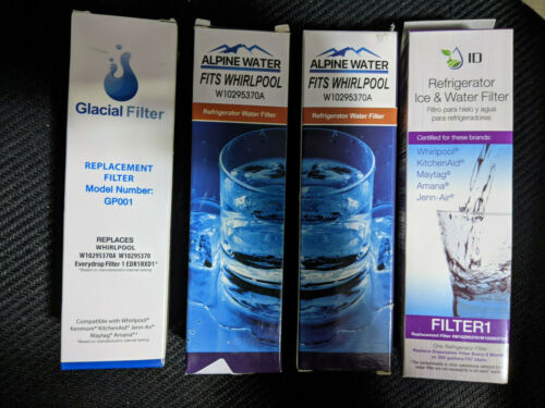 QTY 4 Refrigerator Water Filters FITS FILTER 1 EDR1RXD1 W10295370A 46-9930