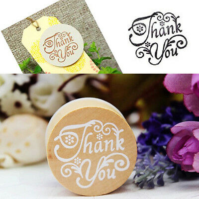 New Handwriting Wishes Sentiment Wooden Rubber Round Stamp Floral Choose Word CN