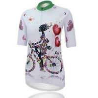 Women Cycling Clothing Quick Dry Bike Bicycle Short Sleeves Jersey Top S-4xl