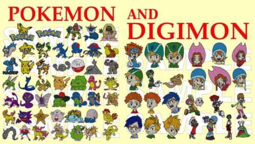 Pokemon ir /& Digimon máquina de bordar Diseños pes CD máquina de bordar