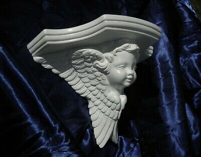Angel Rococo Style,colour old gold re-worked  Re-cut Corbel Shelf